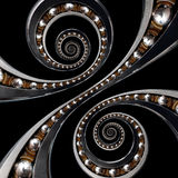 Fun incredible Industrial Ball Bearing. Double spiral effect tec Royalty Free Stock Image