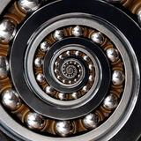 Fun incredible Industrial Spiral Ball Bearing. Spiral level bear Stock Images