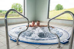 Fun in indoor jacuzzi Stock Image