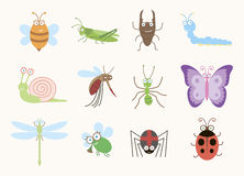 Fun insects Stock Image