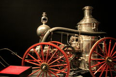 Fun and interesting exhibit of antique Fire Trucks,State Museum,Albany,New York,2016 Royalty Free Stock Images
