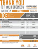 Fun invoice template design. Fun and modern customizable Invoice template design Royalty Free Stock Images