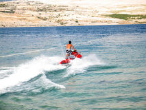 Fun on jet-ski Stock Images