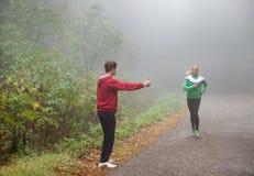 Fun jogging Royalty Free Stock Photo