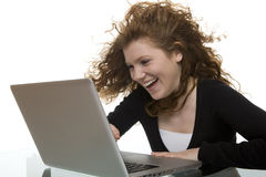 Fun and joy with computer and the Internet Royalty Free Stock Images
