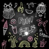 Fun and joy of emotion. Hippie style of life. Set of vector elements for design.  Stock Photo