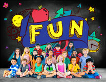 Fun Joy Smiley Stationery Education Concept Stock Images