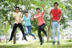 Fun jumping Stock Image