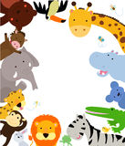 Fun Jungle Animals Border. Illustration of Fun Jungle Animals Border Royalty Free Stock Photography