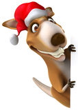 Fun kangaroo. 3d generated picture Royalty Free Stock Photos