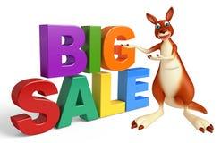 Fun Kangaroo cartoon character with bigsale sign Royalty Free Stock Photo