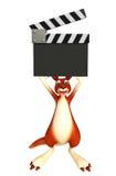 Fun Kangaroo cartoon character with clapboard Royalty Free Stock Photo