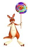 Fun Kangaroo cartoon character with lollypop Royalty Free Stock Photo