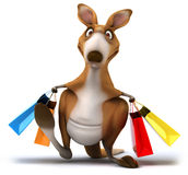 Fun kangaroo Royalty Free Stock Image