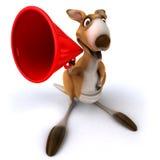 Fun kangaroo. 3d generated picture Royalty Free Stock Image
