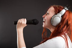 Fun karaoke Stock Image