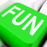 Fun Key Means Exciting Entertaining Or Joyful. Fun Key On The Keyboard Meaning Enjoyment Amusement Or Pleasing Royalty Free Stock Photo