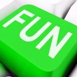 Fun Key Means Exciting Entertaining Or Joyful. Fun Key On The Keyboard Meaning Enjoyment Amusement Or Pleasing Royalty Free Stock Photo