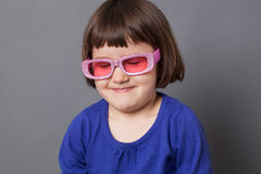 Fun kid glasses concept with a laugh Stock Images