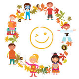 Fun kids activities Frame design Stock Images