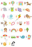 Fun Kids alphabet Stock Image