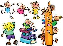 Fun kids for school design Royalty Free Stock Photo