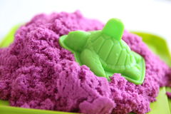 Fun kinetic sand Royalty Free Stock Photography