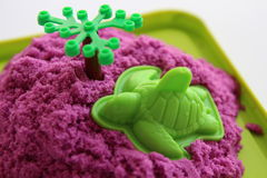 Fun kinetic sand Stock Photo