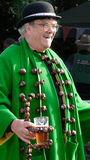 Fun. King Conker sets a happy tone at the world conker championships in Southwick, near Oundle, England on 12 october 2014 stock photography