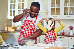 Fun in the kitchen Stock Image