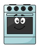 Fun kitchen appliance - a happy oven Stock Image