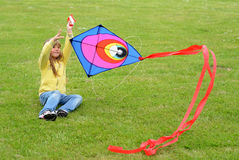 Fun with kite Royalty Free Stock Image