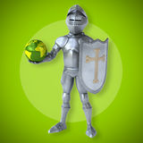 Fun knight Stock Photography