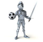 Fun knight Stock Image