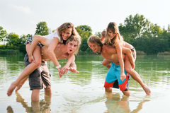 Fun at the lake Stock Photography
