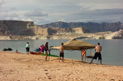 Fun at lake powell on labor day weekend Royalty Free Stock Photo