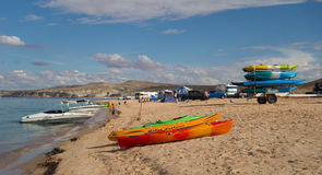 Fun at lake powell on labor day weekend Stock Image