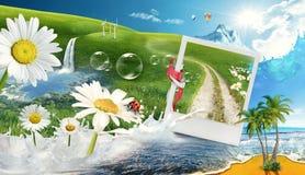Fun landscape Stock Photo