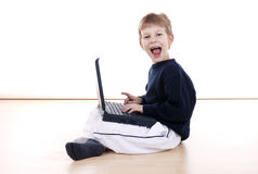 Fun on laptop Stock Images