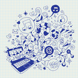 Fun laptop vector illustration