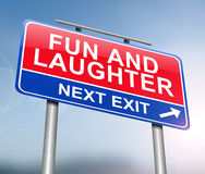 Fun and laughter concept. Royalty Free Stock Images