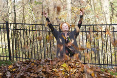 Fun With Leaves Stock Images