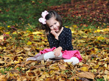 Fun in the leaves Stock Photography