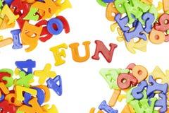 Fun lettering Stock Photo