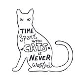 Fun lettering about cats Stock Photography