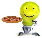 Fun light bulb Stock Images