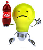 Fun light bulb Royalty Free Stock Images