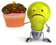 Fun light bulb Stock Image