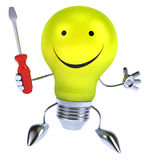 Fun light bulb Stock Image