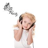 Fun Listening To Music Stock Image